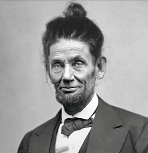 abraham-lincoln-man-bun-hairstyle-funny