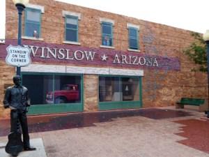 Take it easy corner in Winslow, Arizona