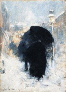 Frederick Childe-Hassam, A New York Blizzard