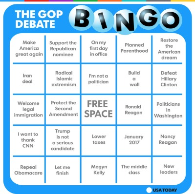 state of union bingo