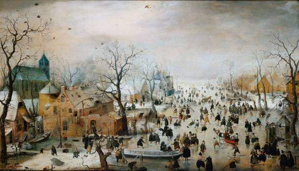 Winter landscape by Pieter De Hooch