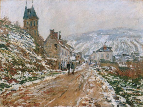 The Road in Vetheuil in Winter