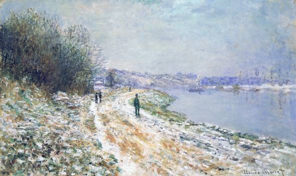 The Tow Path at Argenteuil, Winter