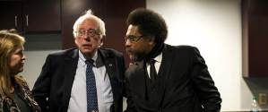 Jane and Bernie Sanders with top surrogate and Obama hater Cornell West
