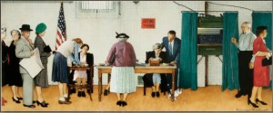 Election Day 1944, Norman Rockwell