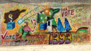 Election day graffiti in Afghanistan, 4/4/2014