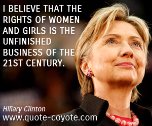 Womens Rights Quotes Hillaryclintonwomenrightsquotes  Sky Dancing