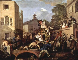 Chairing the Member, Hogarth 1755 (London)