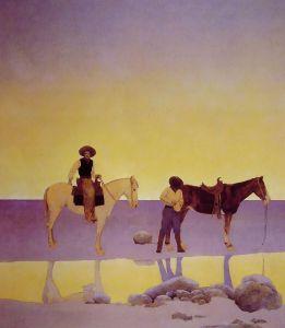 Maxfield Parish Cowboys' Hot Springs AZ