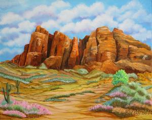 Superstition Mountains, Carol Sabo