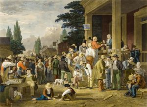 The County Election, George Caleb Bingham
