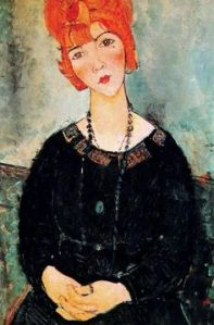 Woman with a necklace