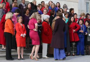 I love this photo of the 2013 class of women in the House.