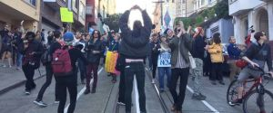 Bernie bros protest high dollar fund-raiser for down-ticket Democrats in San Francisco