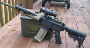 Bushmaster AR-15, the gun used in the Sandy Hook Massacre.