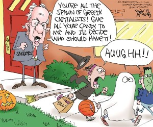 Sanders-Holloween-Cartoon