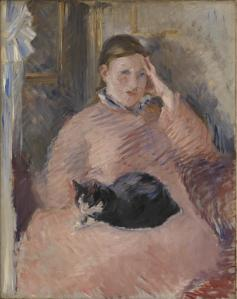 Woman with a Cat c.1880 Edouard Manet