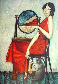 Giovanni Boldini, Woman with cat