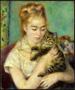 Woman with a cat, Auguste Renoir