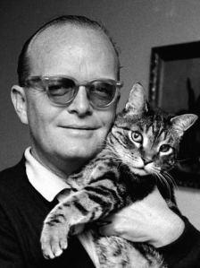 Truman Capote with cat