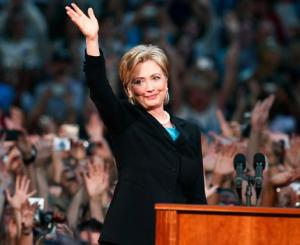 Hillary Clinton concedes Democratic nomination to Barack Obama in June 2008