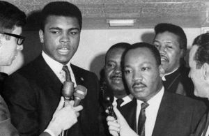 Muhammed Ali with Dr. Martin Luther King