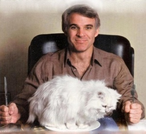 Steve Martin with cat