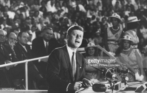 John Kennedy at the 1960 Democratic Convention