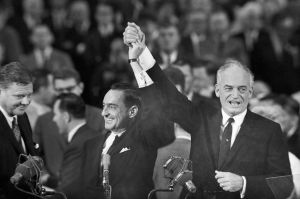 Barry Goldwater and William Miller at the 1964 GOP Convention in San Francisco