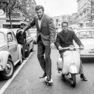 Clint Eastwood skateboarding