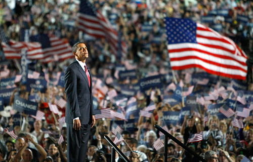 Barack Obama at the Democratic National Convention, 2008