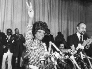 Percy Sutton nominates Shirley Chisholm at the 1972 Democratic Convention