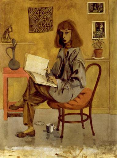 Self portrait, Elaine de Kooning, 1946