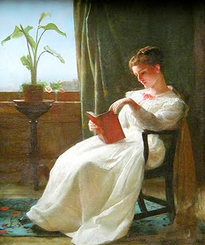 Girl reading, George Cochran Lambdin