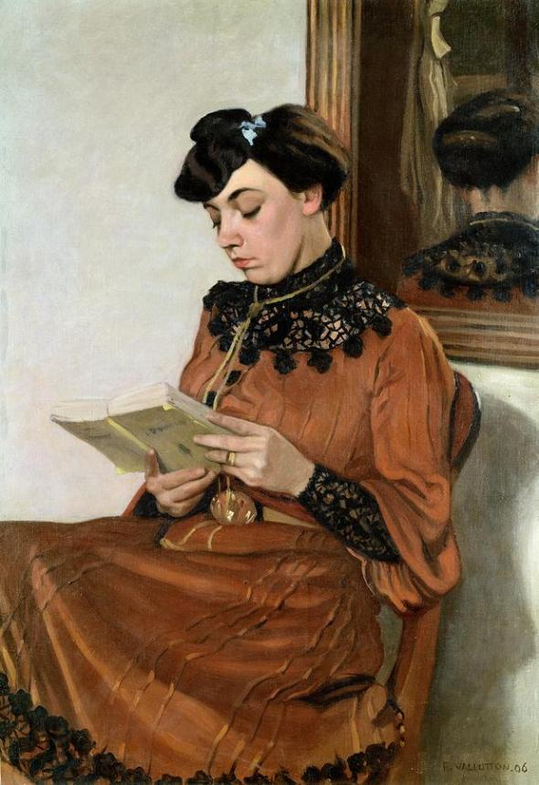 Woman reading, Jean-Baptiste Emile Corot