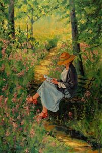 Woman reading, Jon Urban