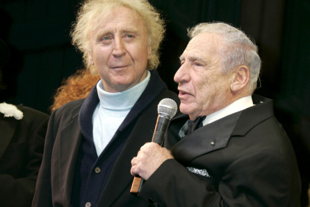 Mandatory Credit: Photo by Gregory Pace/BEI/BEI/Shutterstock (712363g) Gene Wilder and Mel Brooks Opening Night of the play 'Young Frankenstein' in New York, America - 07 Nov 2007