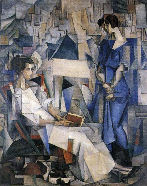 Portrait of two women, Diego Rivera