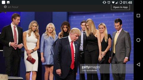 Trump clan post debate
