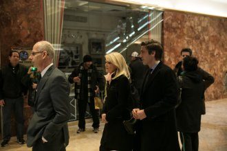 TV journalists and execs at Trump Tower yesterday