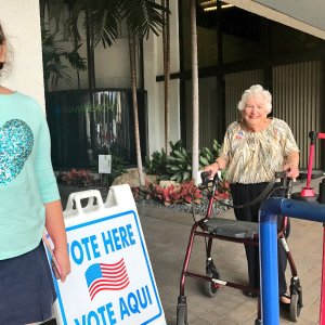 98-year-old early voter in Florida