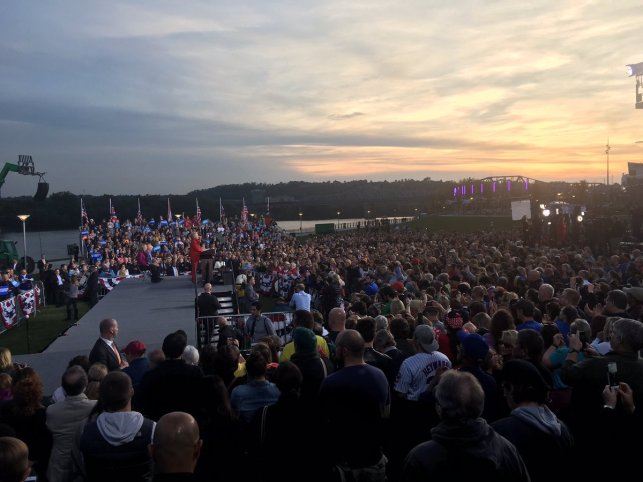 Hillary Clinton in Cincinnati yesterday