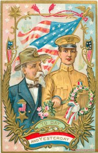 memorial-decoration-day-veterans-soldiers-today-and-yesterday-vintage-postcard