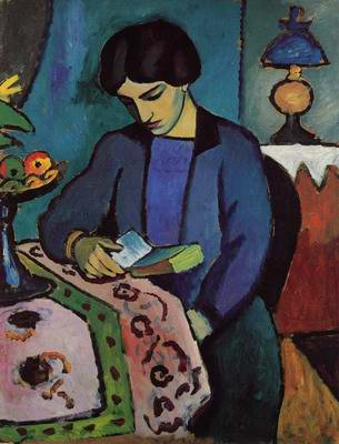 Blue Girl Reading, Auguste Macke