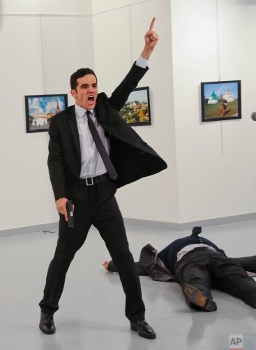 AP photo of Assassination of russian ambassador in Turkey