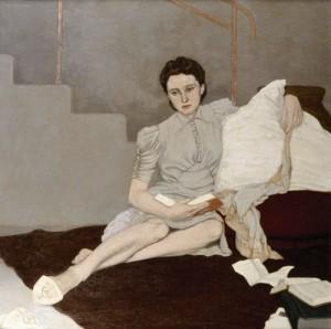 Girl in grey, Louis le Brocquy