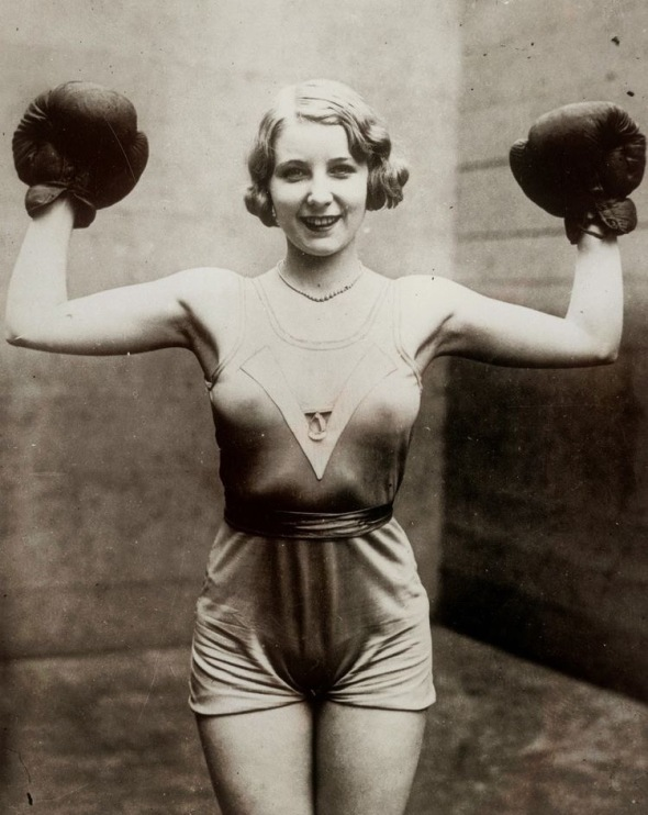 Irish boxing champion Elsie Connor, 1931, New York City