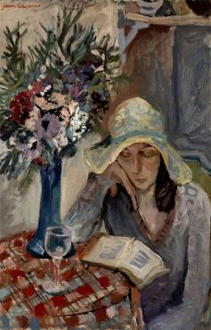 Girl Reading, Jacob Chapiro