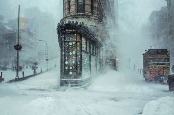 Michele Palazzo, photo of winter storm Jonas in NYC, 2016