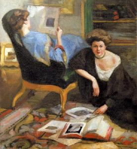 Women reading, Robert Breyer